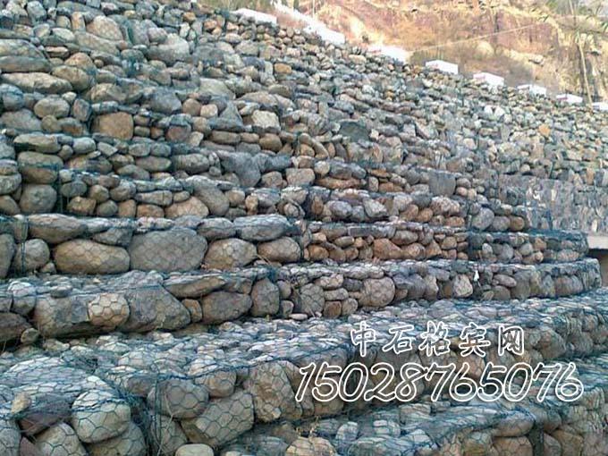 护岸格宾石笼挡墙